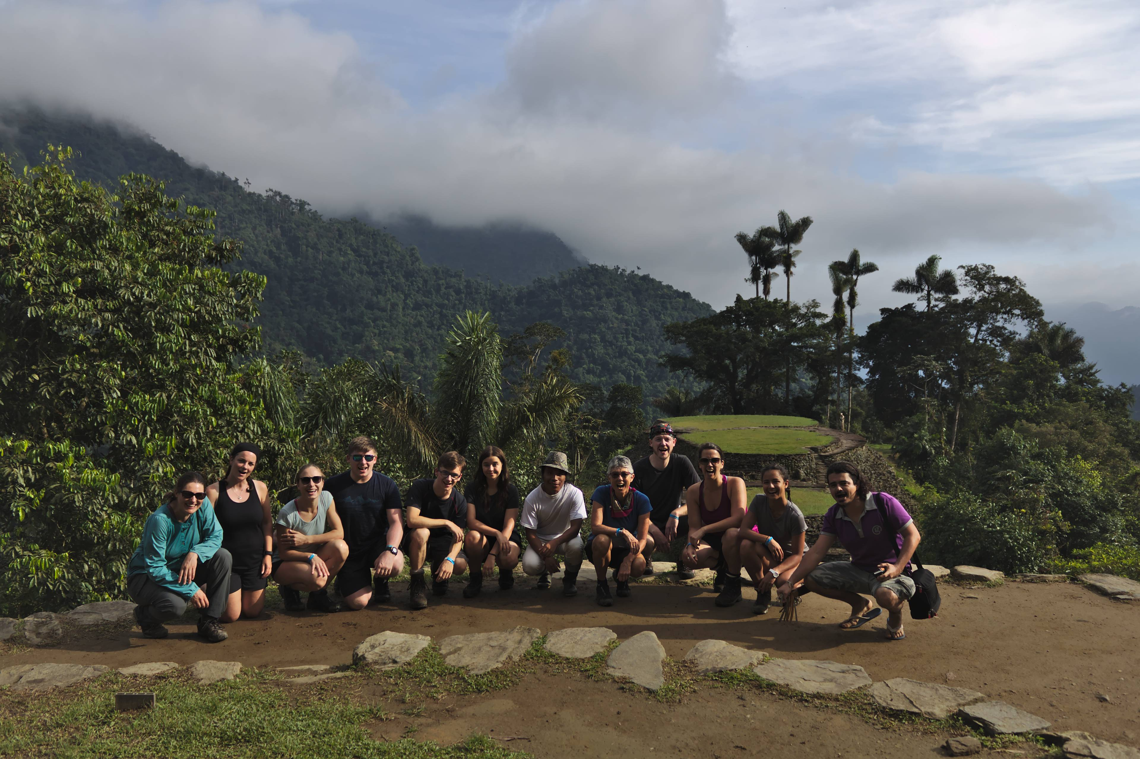 Our group on the main axis of Ciudad Perdida